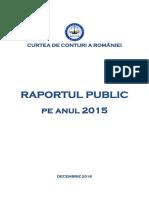 Raportul Public Pe Anul 2015