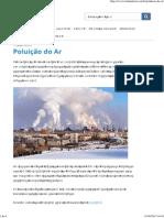 Poluição Do Ar - Toda Matéria