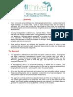 MIThrive Legislative Overview