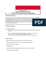 Business Analytics Programming