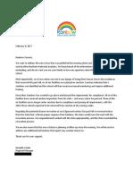Rainbow Parent Letter 2/8/17