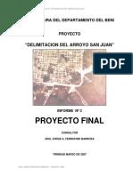 Proyecto Arroyo San Juan