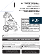 Pressure Washer FULL MANUAL RY802800 090079273 295 Trilingual 02