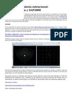 Software Ingenieria Estructural Nastranpatran y Sap2000
