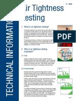 Air Tightness Testing - Technical Information