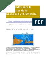 Actividades Para La Enseñanza de La Economía y La Empresa