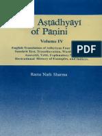 Ashtadhyayi English Commentary by Rama Nath Sharma Vol--4
