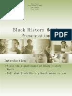 Black History Month Presentation