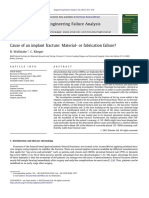 Cause of an Implant Fracture Material- Or Fabrication Failure