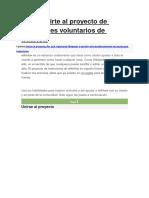 Cómo Unirte Al Proyecto de Traductores Voluntarios de WikiHow
