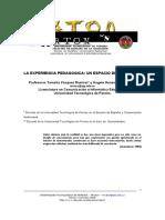 La Experiencia Pedagogica- Un Espacio de Reflexion UTP