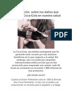Información Sobre Los Daños Que Causa La Coca