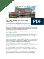 Centros Comerciales, Claves en La Generacion de Empleos