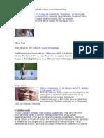 10 Guatemaltecos Destacados a Nivel Internacional