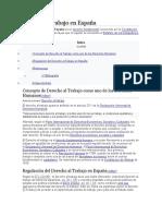 Derecho Al Trabajo en España