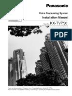 Panasonic Tvp50 Installation Program Manual