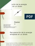Recuperación de la energía almacenada con un diodo