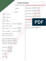 Formule Trigonometrie