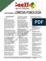 Divina Comedia -Fonología