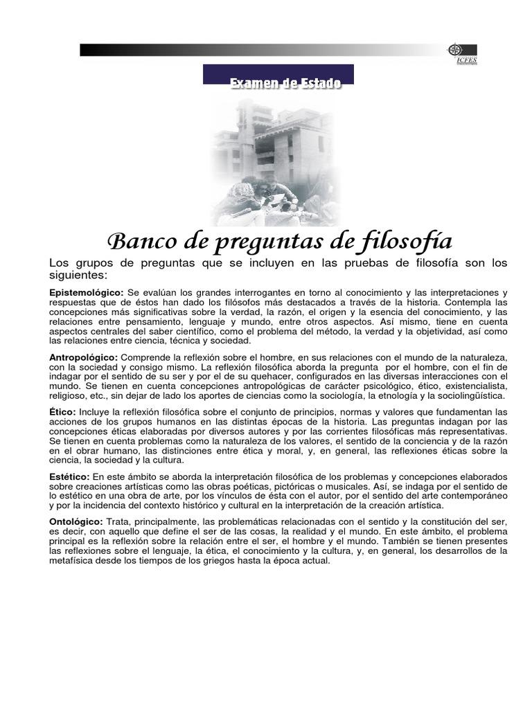Icfes Saber Filosofia - Lectura Critica: Banco de Preguntas