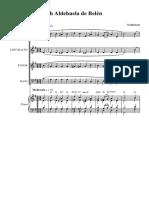 Oh Aldehuela de Belén Sib 6 - Partitura Completa