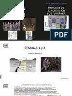 Diapositiva # 1 Métodos Subterráneos