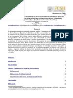 Análisis de Política Económica de Ecuador y Corea Del Sur, Ad. Pública