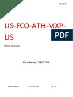 Flight Report LIS-FCO-ATH-MXP-LIS Estreia Na Aegean