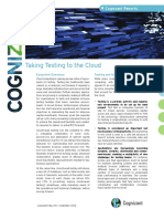Taking Testing to the Cloud