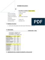 Informe Psicológico p