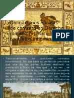 Obligaciones nacidas de contrato en Derecho romano (.pptx