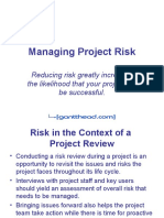 Managing Project Risk