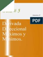 Guia 5 Derivada Direccional Maximos y Minimos