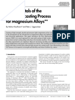 Fundamentals of the New Rheocasting Process for Magnesium Alloys