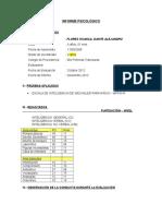Informe Psicológico f