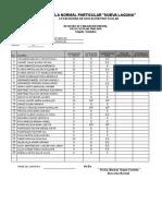 Evaluacion de Segundo Semestres de Primaria y Preescolar