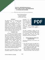 Marcelo Baru Design of a Micropower Signal Conditioning Circuit for a Piezoresistive Acceleration Sensor 1998