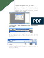 Pasos Para Enlazar Una Base de Datos Con Visual