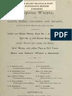 (1881) Equipoise Waists for Ladies, Misses, ChildreN & Infants