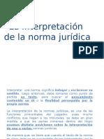 La Interpretación de La Norma Juridica