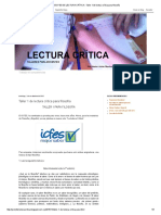 PREICFES de LECTURA CRÍTICA _ Taller 1 de Lectura Crítica Para Filosofía