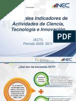 Presentacion de Principales Resultados ACTI