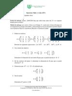 Ejercicios de Algebra I