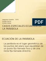 Casos especiales ecuación de la parábola.pptx