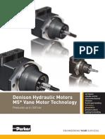 Hydraulické Denison motory do 350 bar série M5A-M5B-1