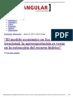 """El Gran Angular – """"El Modelo Económico en Ica... Voraz en La Extracción Del Recurso Hídrico"""""""