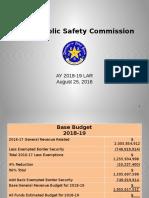 DPS Presentation on 2018-19 Budget Request