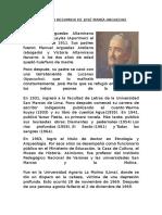 Biografía Resumida de José María Arguedas