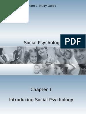 Social Psychology Exam 1 Study Guide   Social Psychology