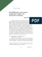 The Establishment of the Position of Maraja'iyyt-i Taqlid in the Twelver-Shi'i Community